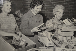 One of the early CFUW Book Sales